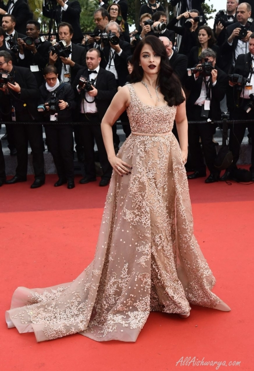 Aishwarya in Elie Saab creation at Cannes, Day 2