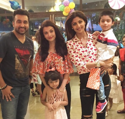 Aishwarya Rai Bachchan attends Shilpa Shetty's son Viaan's birthday party with daughter Aaradhya