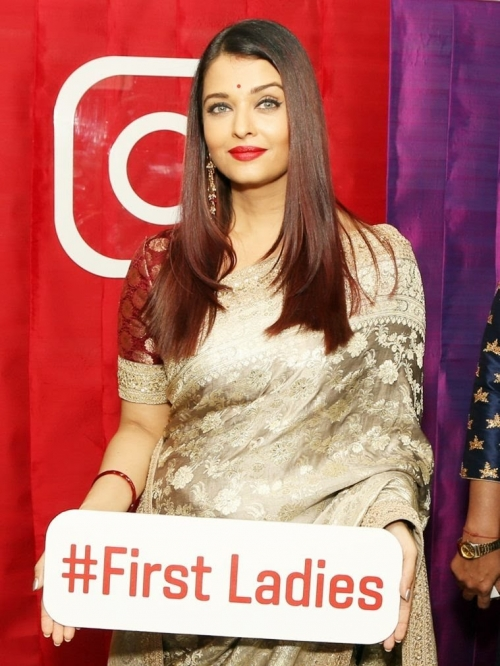 Gallery Update: Aishwarya attends the First Ladies Event in New Delhi Today