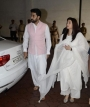 Aishwarya Rai, Abhishek, SRK, Aamir, Hrithik & Others Spotted At Vinod Khanna's Prayer Meet